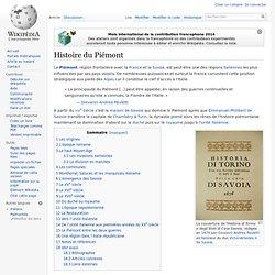 Histoire du Piémont