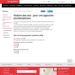 Histoire des arts : pour une approche pluridisciplinaire