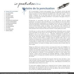 Histoire de la ponctuation française