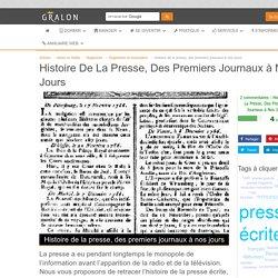 Histoire de la presse, des premiers journaux à nos jours