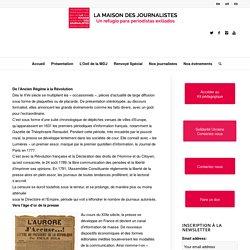 Histoire de la presse en France – Maison des journalistes