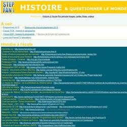 Histoire l' cole primaire : sites de ressources, fiche