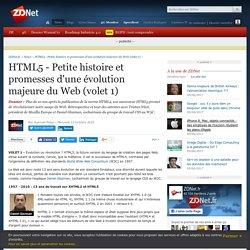 HTML5 - Petite histoire et promesses d'une évolution majeure du Web (volet 1)