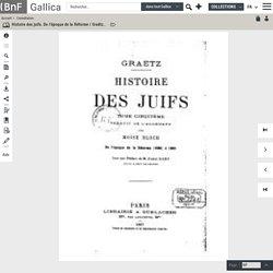 T5/5.- Histoire des juifs. De l'époque de la Réforme / Graëtz ; trad. de l'allemand par M. Wogue