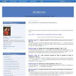 Cours 2e Histoire : Les Hommes de la Renaissance 2