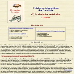 USA: Histoire (3) - Révolution américaine