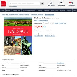 Histoire de l'Alsace - 9791035304461