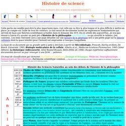 Histoire de science