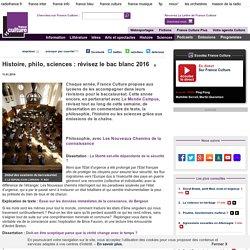 Histoire, philo, sciences : révisez le bac blanc 2016