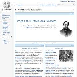 Portail:Histoire des sciences