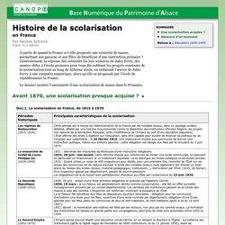 Histoire de la scolarisation en France