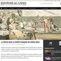 Histoire - La presse dans la société française du XIXème siècle