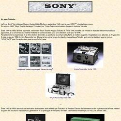 Histoire de Sony