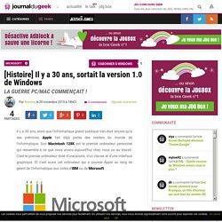 [Histoire] Il y a 30 ans, sortait la version 1.0 de Windows