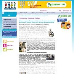 Histoire du statut de l'enfant