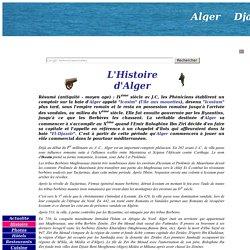 """Histoire de la ville d'Alger, surnommée """"el bahdja"""""""
