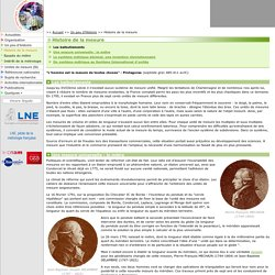 Histoire de la mesure - du mètre au Système International d'unités