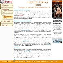 Histoire du théâtre à l'école