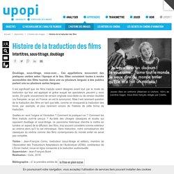 Histoire de la traduction des films