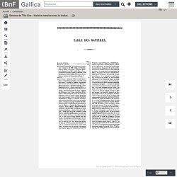 Oeuvres de Tite-Live : histoire romaine avec la traduction en français. Tome 1 / publiées sous la direction de M. Nisard, ...