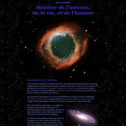 Histoire de l'univers, de la vie, et de l'homme