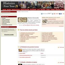 Histoire Universelle : toute l'histoire du monde