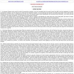 HISTOIRE ROMAINE DE VELLEIUS PATERCULUS LIVRE II