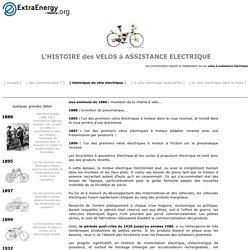 Histoire du velo electrique