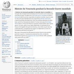 Histoire du Venezuela pendant la Seconde Guerre mondiale