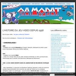 [HISTOIRE] LE JEU VIDEO DEPUIS 1958 - Gamopat
