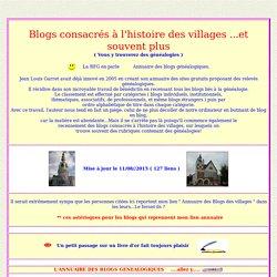 Histoire des villages