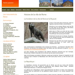 Histoire de la ville de Rome.