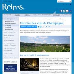 Histoire des vins de Champagne