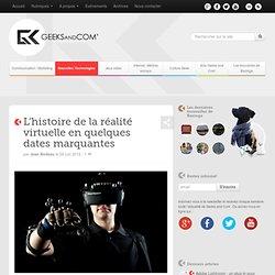 L'histoire de la réalité virtuelle en quelques dates marquantes