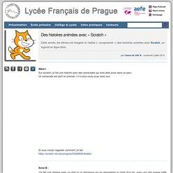Des histoires animées avec « Scratch » - Lycée Français de Prague