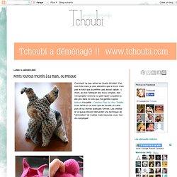 Petites histoires créatives: Petits toutous tricotés à la main... ou presque