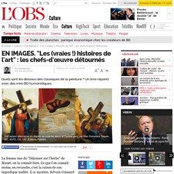 """EN IMAGES. """"Les (vraies !) histoires de l'art"""" : les chefs-d'œuvre détournés - L'Obs"""