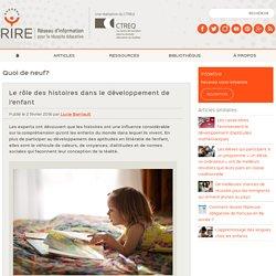 Le rôle des histoires dans le développement de l'enfant