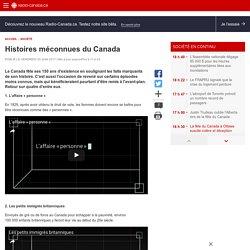 Histoires méconnues du Canada