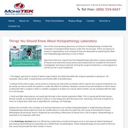 Things You Should Know About Histopathology Laboratory