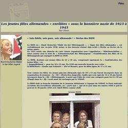 HistoQuiz/Les jeunes filles allemandes « enrôlées » sous la bannière nazie de 1923 à 1945