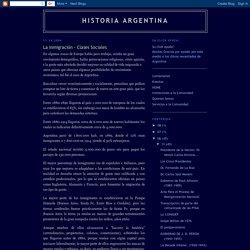 Historia Argentina: La Inmigración - Clases Sociales