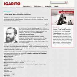 Historia de la clasificación de libros Icarito