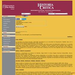 HISTORIA CRITICA