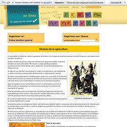 Historia de la agricultura - Profesor en línea