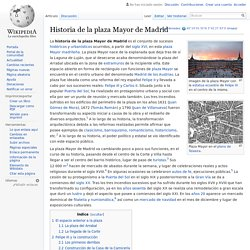 Historia de la plaza Mayor de Madrid