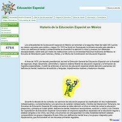 Historia de la Educación Especial en México - Educación Especial
