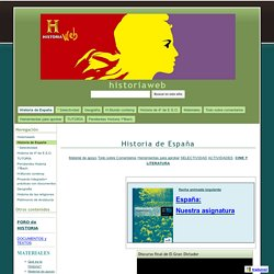 Historia de España - historiaweb