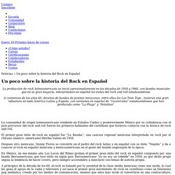 Un poco sobre la historia del Rock en Español