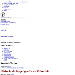 Historia de la Geografía en Colombia